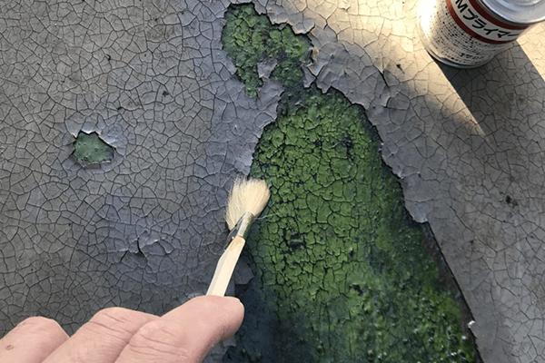 ベランダの防水膜の剥がれ